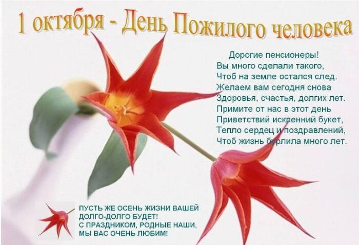 Стихи поздравления ко Дню пожилых людей