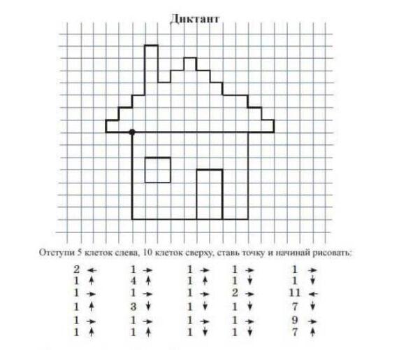 схемы графического диктанта