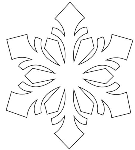 скачать шаблоны снежинок