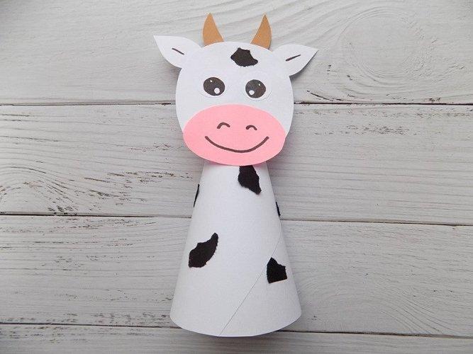 схемы коров из цветной бумаги