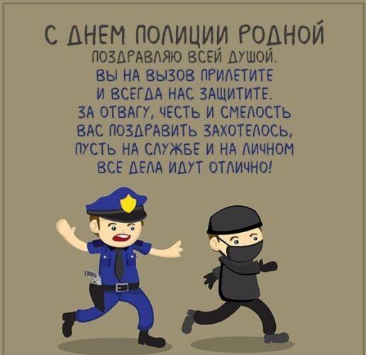 поздравление с днем полиции в прозе прикольные