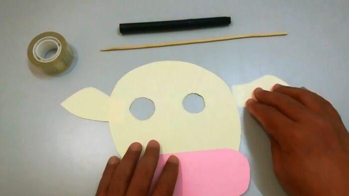 маска быка из картона