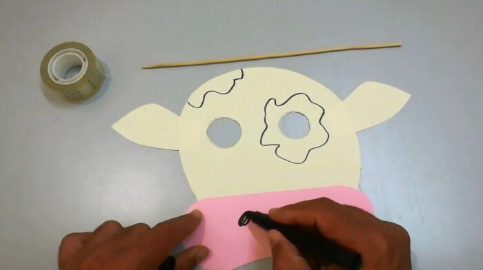 маска быка распечатать
