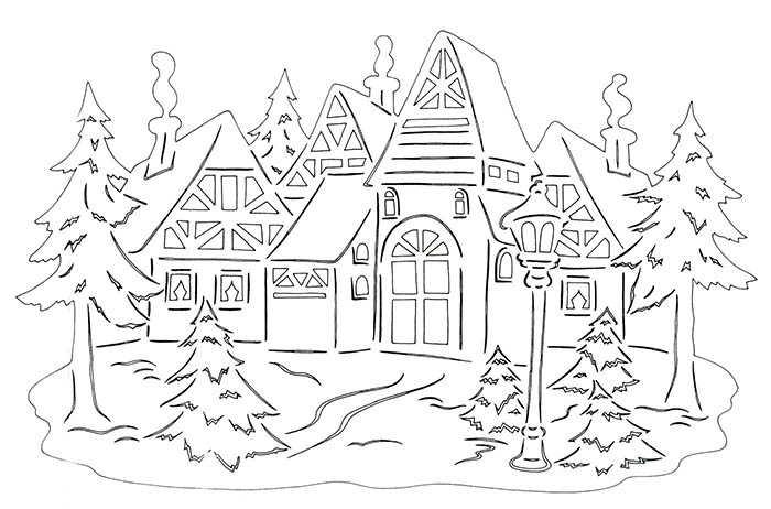 как украсить окна в детском саду на новый год быка