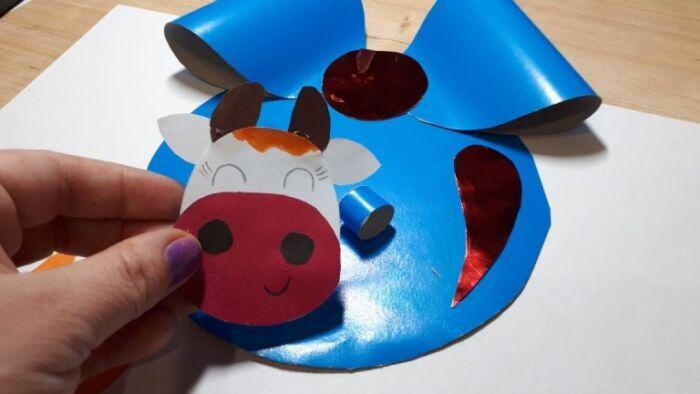 елочный шар корова своими руками