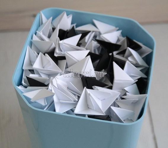 как сделать быка в технике оригами
