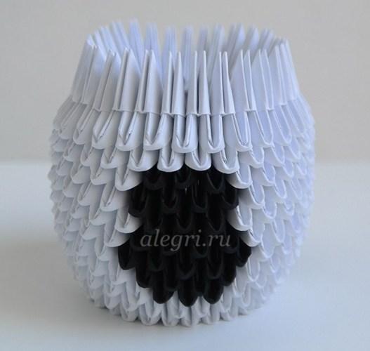 бык из бумаги модулей оригами