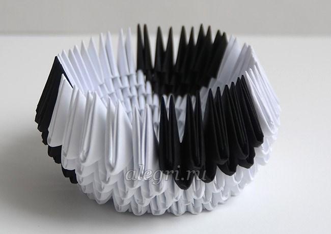 модульное оригами из бумаги бык