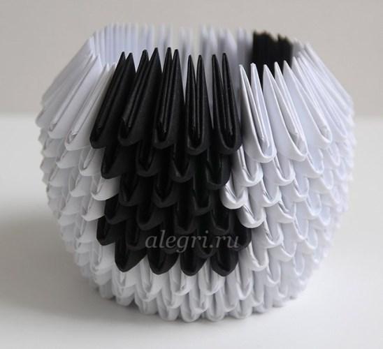 оригами из бумаги быка схема сборки