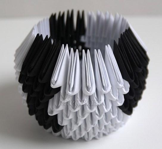 оригами из бумаги быка для детей