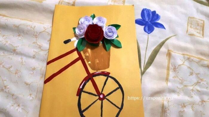 как сделать открытку маме на день матери