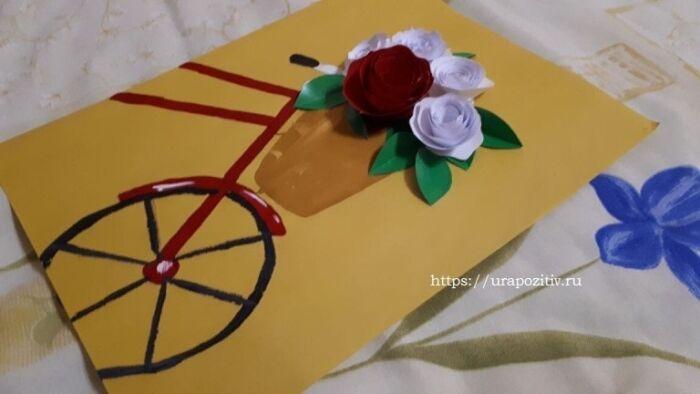 как сделать красивую открытку на день матери