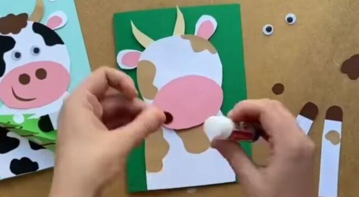 как сделать символ года быка из картона