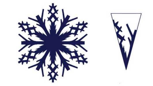 трафареты снежинок на окна