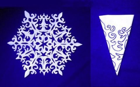 шаблон снежинки простой
