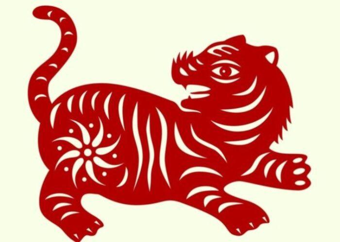новогодние трафареты тигров для окон