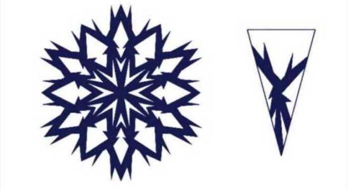 маленькие снежинки из бумаги шаблоны для вырезания