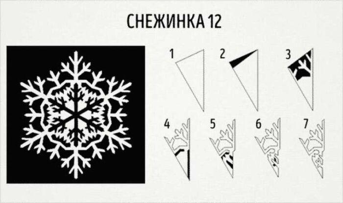 снежинки из картона шаблоны