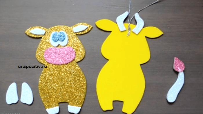 как сделать маленькую коровку своими руками