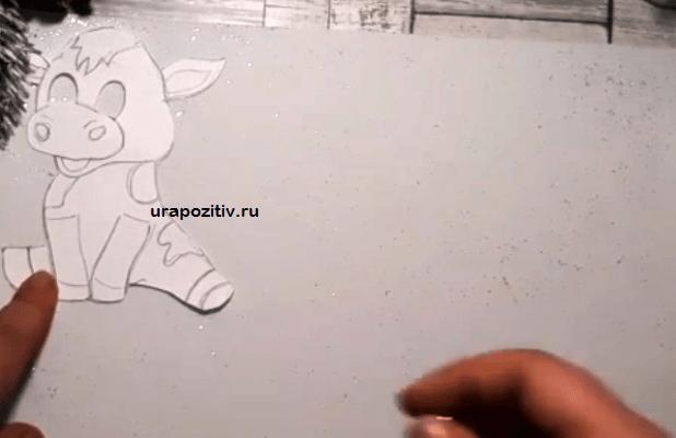 шаблоны коровы из фоамирана
