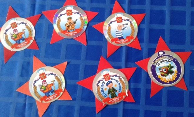 поделки 23 февраля детский сад младшая