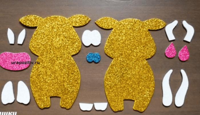 поделка корова из фоамирана
