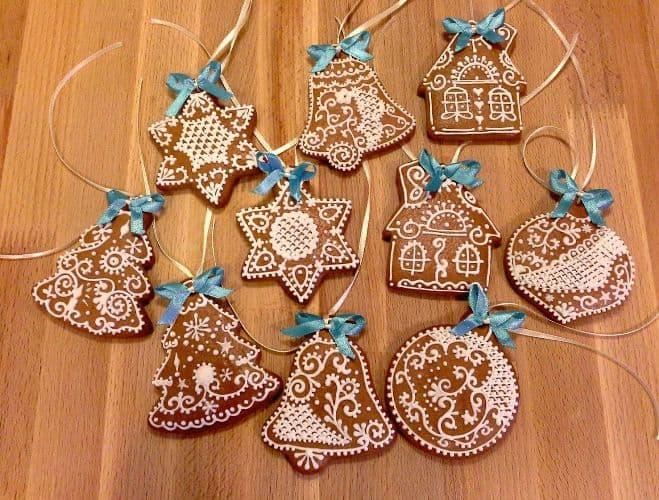 пряничное новогоднее печенье