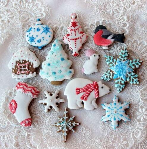 мягкое новогоднее печенье