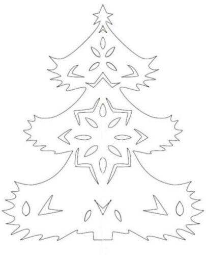 елка из бумаги шаблоны для вырезания