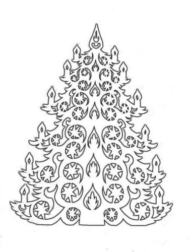 елка шаблон для вырезания распечатать
