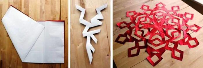 распечатать новогодние снежинки для вырезания