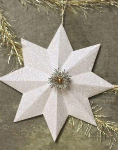 гирлянда из снежинок в модульном оригами
