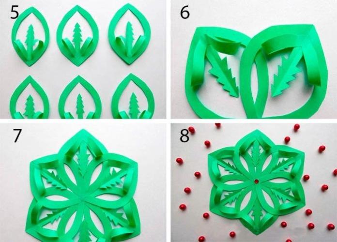 снежинка модульное оригами схема сборки