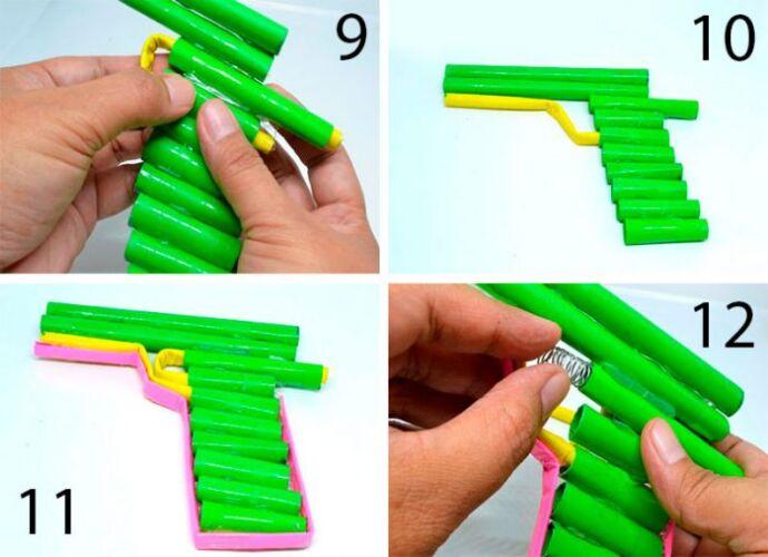 как сделать пистолет из бумаги для начинающих
