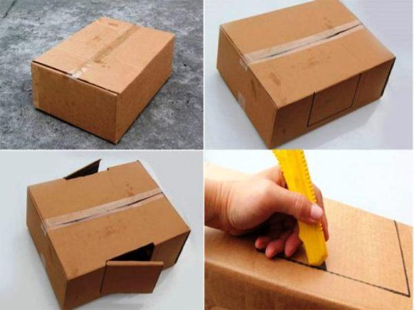 как сделать машинку из картона