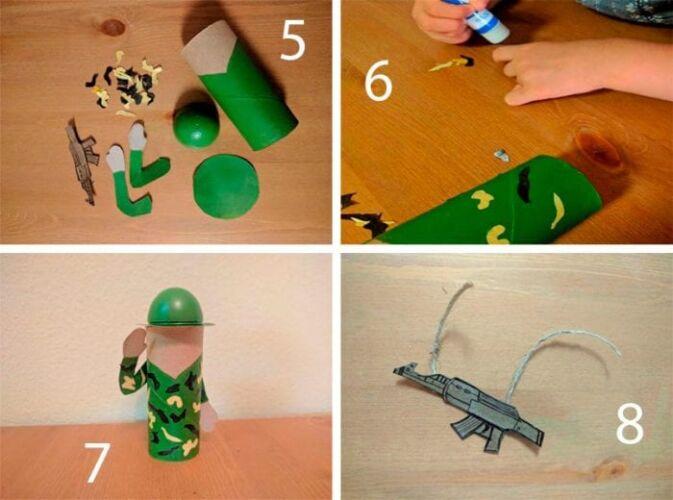как сделать оловянного солдатика из картона