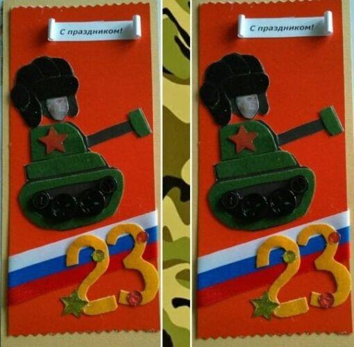 танк из пластилина на 23 февраля