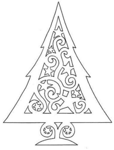 вытынанка елка шаблоны для вырезания
