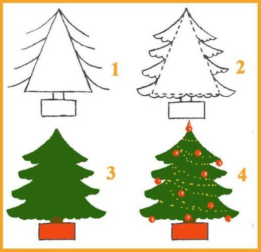 объемные елки из бумаги шаблоны для вырезания