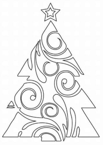 вырезание из бумаги шаблоны трафареты новый год