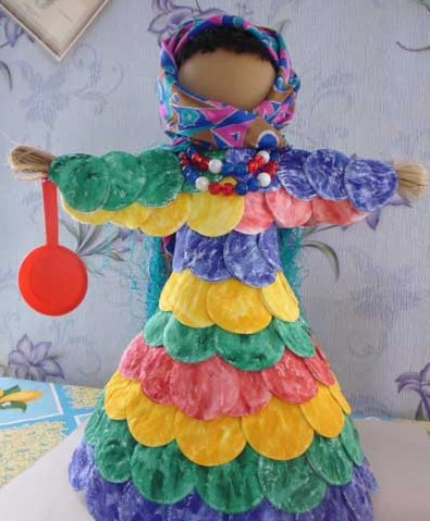 поделка кукла масленица своими руками из ниток