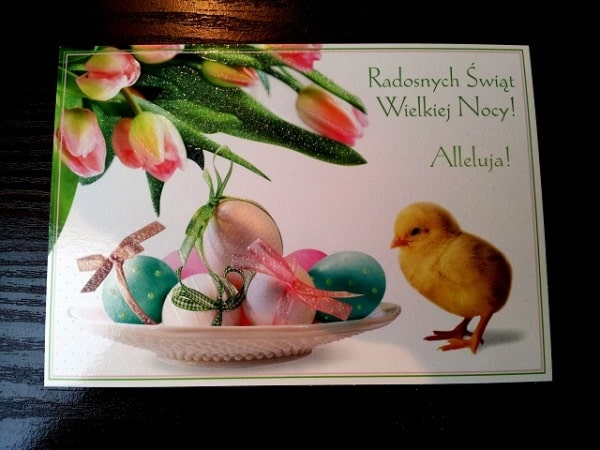 поздравления с католической пасхой на польском языке с переводом