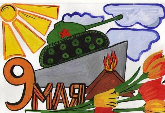 рисунок на тему день победы в садик
