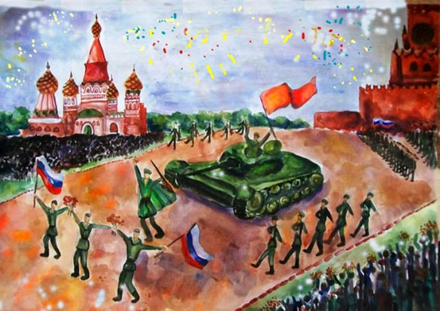 рисунки на 9 мая в садик