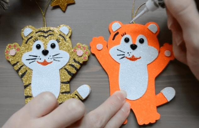 как нарисовать полоски тигру на игрушке - способы