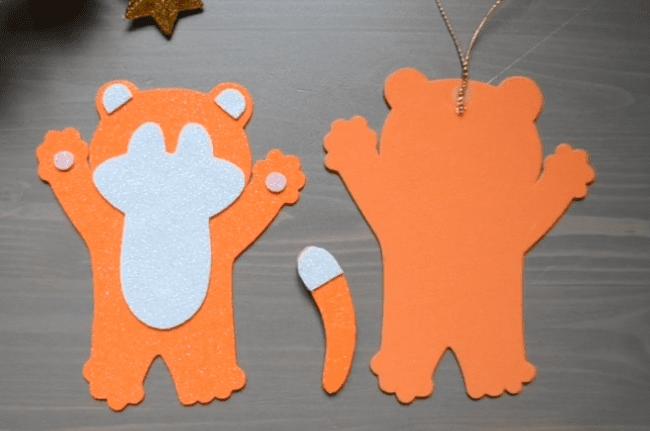 игрушки тигры на елку своими руками